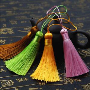 8cm Ice Silk Tassel Trim Key Chian Pendant Jewelry Making DIY 28 Colors Option