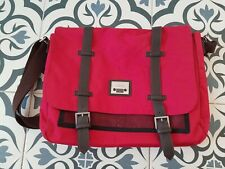 Jeep Laptop Bag Unisex Red Brown Strap Fair Condition 15 Inch Laptop