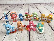 """Lot of 11 MINI Care Bears miniatures vintage 1984 2"""" pvc VGUC"""