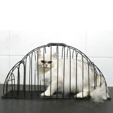 Cat Kitty Washing Cage Pet Shower Cage Steel Wire Cat House with Handle