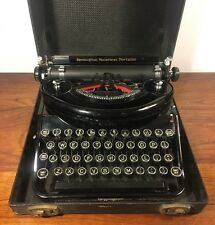 Vintage Remington Noiseless Portable Typewriter W Case 1930's