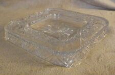 "Godinger Dublin Clear Shannon Crystal Cheese Cracker Plate Tray Square 12"" New"