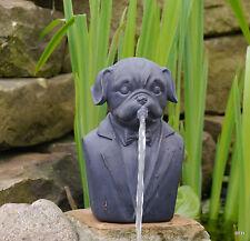 Gartenfigur  Wasserspeier Wasserspiel Skulptur Hund Gartendekoration Teichfigur