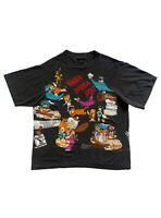 Vintage 90s The Flintstones All Over Print Single Stitch Changes T Shirt XL