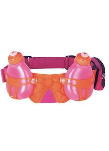 FuelBelt Helium H2O 2-Bottle Hydration Belt - Pomergranate Pink/Orange Crush