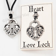 HEART LOCK PENDANT Necklace amulet UNLOCKED Universe find attract Love the key