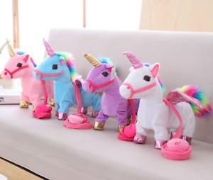 Unicorn Singing Walking Pet Kid Twisting Leash Cute Baby Toddler Soft Toys Kids