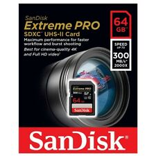 Sandisk Extreme Pro SD Card 64GB SDXC UHS-II Memory Card DSLR 4K Video 300MB/s