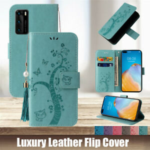 Case Leather Flip Wallet Cover For Huawei P40 Pro P30 P20 Mate40 30 Lite P Smart