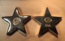 """4oz YPS 3D  """"Star"""" 999 fine silver bar by Yeager's Poured Silver"""