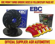 EBC FRONT GD DISCS YELLOWSTUFF PADS 256mm FOR VOLKSWAGEN GOLF MK3 1.4 1996-97