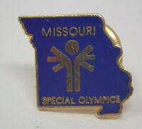 Vintage Blue Gold Metal Missouri Special Olympics State Pin