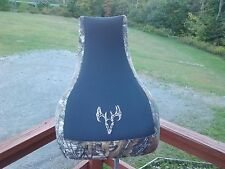 Suzuki vinson 500 camo & black gripper seat cover 2003 & up with buck logo
