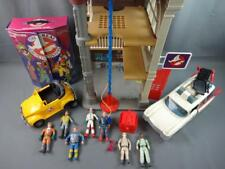 Vintage Real Ghostbusters Lot Firehouse Ecto-1 highway Haunter 7 Figures & Case