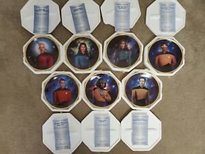 Star Trek Next Generation 5th Anniversary Collectible Plates Lot Of 7