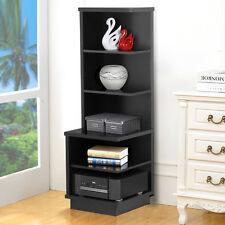 5 Shelf Bookcase Wood Storage Shelving Book Furniture Bookshelf Black