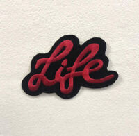 Life Art Red Badge Clothes Iron on Sew on Embroidered Patch appliqué