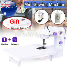 Portable Electric Sewing Machine W Extension Desk Light Multi-function 2 Speed