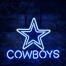 Star Cow Boys Sports Team Boutique Man Cave Bistro Beer Bar Room Neon Sign Light