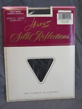 New Vintage Hanes Silk Reflections Silky Sheer Pantyhose 715 Classic Navy AB