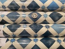 4 Rls Lee Jofa COLE & SON 'Zellige' China Blue Wallpaper 113/11032 $800Retail
