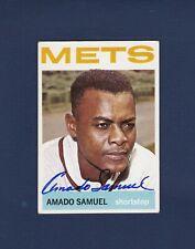 Amado Samuel signed New York Mets 1964 Topps baseball card