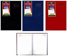 Tallon 2018 A5 Hardback Day a Page Full Sat/sun Diary 3282 - Black