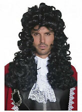 New Pirate//Musketeer//Captain Hook Themed Costume Accessory-Long Black Curly Wig