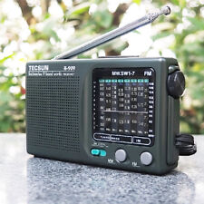 Tecsun R-909 Portable Radio 9 bands FM AM Shortwave World Receiver Black (New)