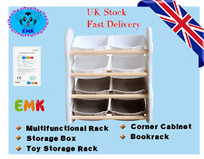 4-Tier Storage Rack Set Sundries Shelf Bookshelf Storage Unit Toys Storage Unit