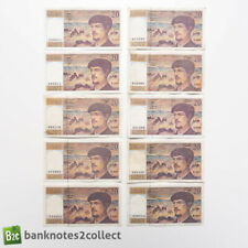 More details for france: 10 x 20 french franc banknotes.
