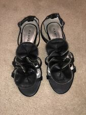 Rampage Women's Leather Sandals - Black - Size 7 M