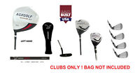 TALL MENS LEFT HAND EXECUTIVE GOLF CLUB SET wDRIVER, WOOD, HYBRID, IRONS &PUTTER