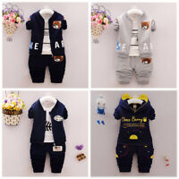 Toddler Boy 3 PCs Tracksuits Set Sport Outfit Set Joggers Size 0-3 Years