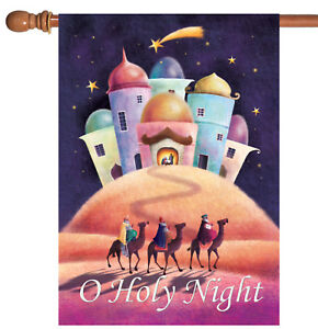 Toland Holy Night 28 x 40 Colorful Wise Men Holiday Christmas House Flag