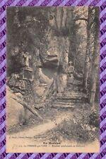 CPA 89 - La PIERRE-qui-VIRE - Escalier conduisant au Calvaire