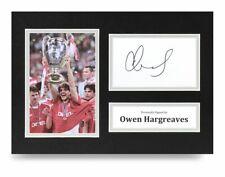 Owen Hargreaves Signed A4 Photo Display Bayern Munich Autograph Memorabilia +COA