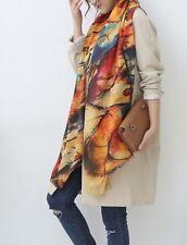 Trendiger Schal / Tuch im künstlerischen Abstrakt-Design, bunt, mehrfarbig NEU