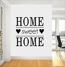 Home Sweet Home Quote Wall Stickers Art Room Removable Decals DIY