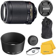 Nikon Zoom-Nikkor 55-200 mm F/4-5.6 DX G SWM AF-S VR IF  Lens With Pouch Kit