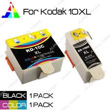2PK 10XL BK & CR Ink Cartridges Set For Kodak ESP 3 5 7 9 3250 5210 5250 Printer