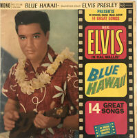 ELVIS PRESLEY BLUE HAWAII OST LP RCA SILVER SPOT UK MONO 1961 VGC PRO CLEANED