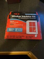 3M 2 - 3'x5' OUTDOOR Window Insulator Kit Clear Film & Scotch TAPE Draft