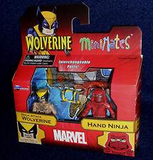 Marvel MiniMates Series 72 NINJA ATTACK WOLVERINE & HAND NINJA Figure 2 PK
