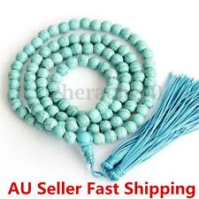 6mm Turquoise Buddhist 108 Mala Prayer Beads Necklace Meditation Bracelet Gift