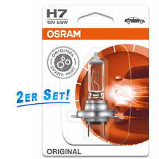 Osram H7 Lampe 12V 55W PX26d Original Spare Part 2er Set 2 x Blister 64210-01B