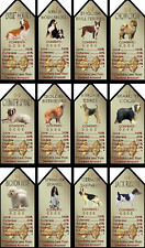Novelty Dog Signs Gift Tags Various Breeds Set A