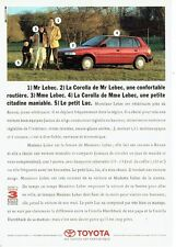 Publicité Advertising 037  1990   la  Toyota  Corolla 1.3l Hatchback