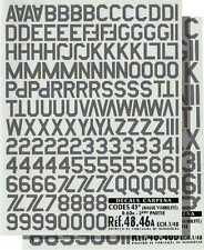 COLORADO DECALS 1/48 Gris code des chiffres et des lettres nº 48046