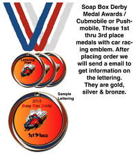 Soap Box Derby Medals Award / Cubmobile / Pushmobile